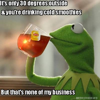 kermit smoothie meme